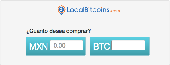 Comprar bitcoins en Localbitcoins México